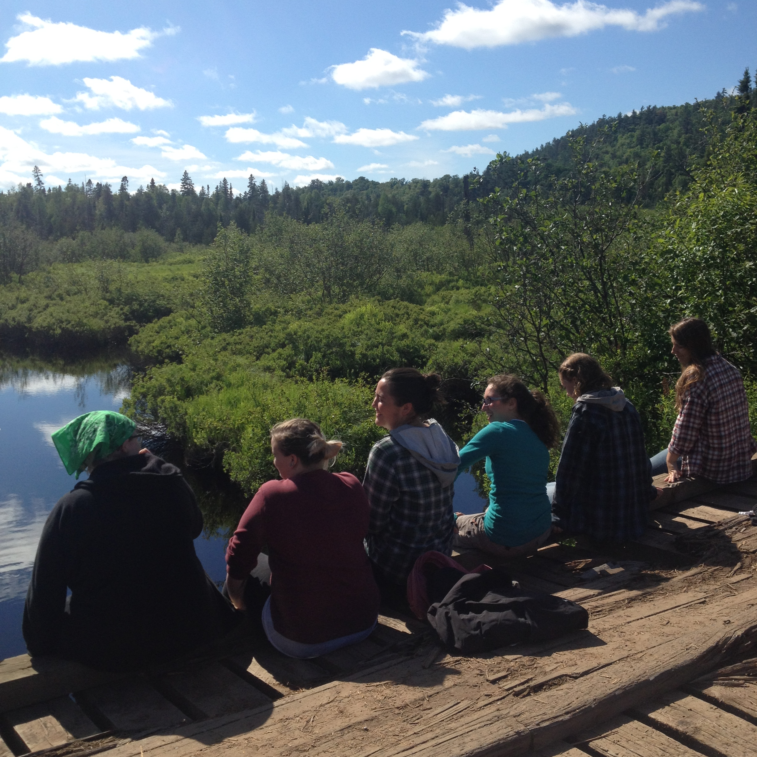 SWUP Summer Fellows at the Dead River crossing (2015).